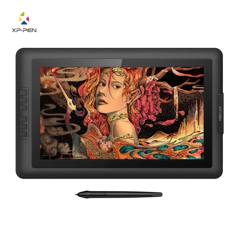 XP-Pen Artist15.6 Drawing Pen Display Graphics Drawing Monitor with 8192 Pen Pressure Battery-free Passive Stylus xp pen star 03 graphics drawing tablet with battery free passive pen digital pen
