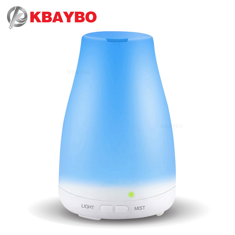 KBAYBO Essential Oil Diffuser, 120ml Aroma Essential Oil Cool Mist Luftfugter, 7 Color LED Lights Ændre til Home Office Baby