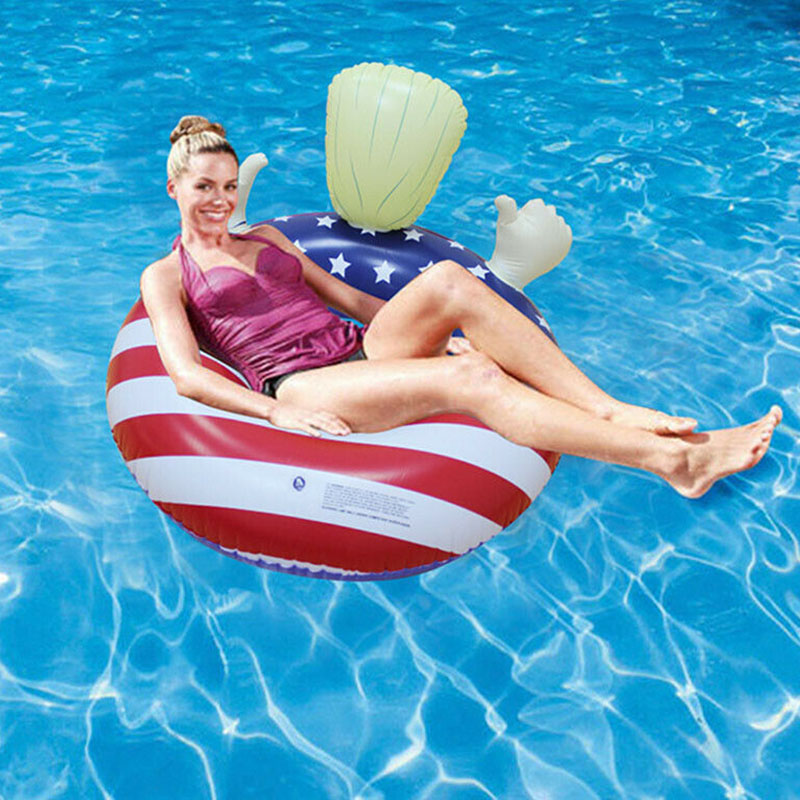 Donald Trump Pool Float Inflatable Swimming Floats Swim Ring For Summer Pool Party YJS Dropship