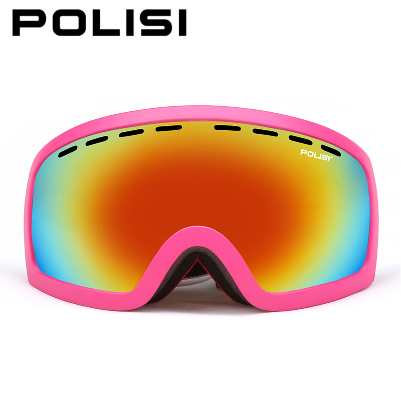 POLISI Snowboard Ski Goggles Winter Polarized Windproof Skiing Eyewear Double Layer Anti-Fog Lens Outdoor Snow Skate Glasses foldable anti glare polarized windproof goggles anti fog glasses unisex