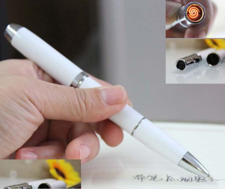 Pen type charging lighter|pen type|pen pen|pen lighter - title=