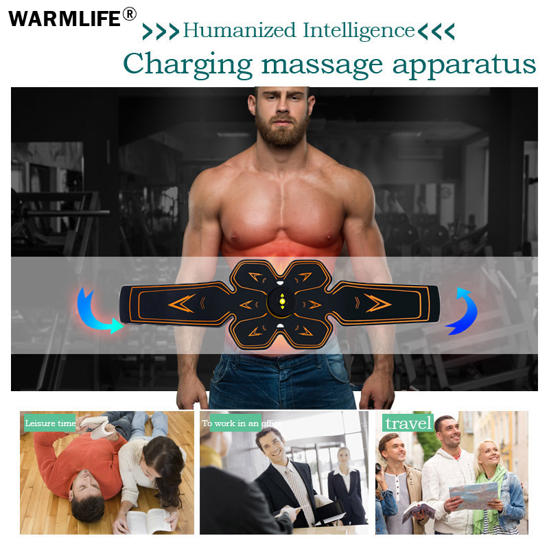 Image 2 - Men Women USB Smart EMS Abdominal Muscle Stimulator Exerciser Set Training Weight Loss Slimming Massager Fitness Machine-in Massage & Relaxation from Beauty & Health