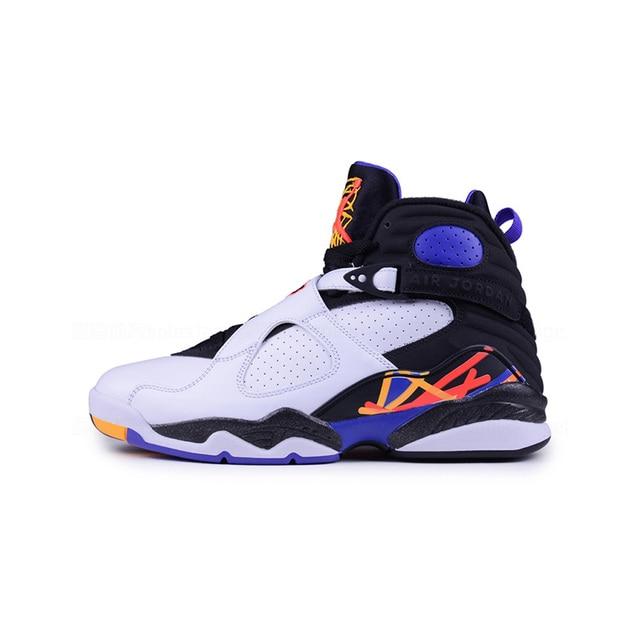 c9f4fa95a73d White Jordan Retro 8 Men Basketball Shoes Aqua Chrome COUNTDOWN PACK Three  Peat Athletic Outdoor Sport Sneakers 41-46