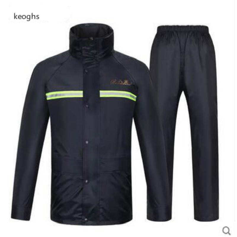 S M L XL XXL XXXL motocross scooter motorcycle raincoat motorbike rain suits with reflective stripe free shipping