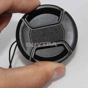 Nuovo 46 millimetri Centro Pinch Snap Cap Anteriore Copertura Per La Macchina Fotografica Lens Filter