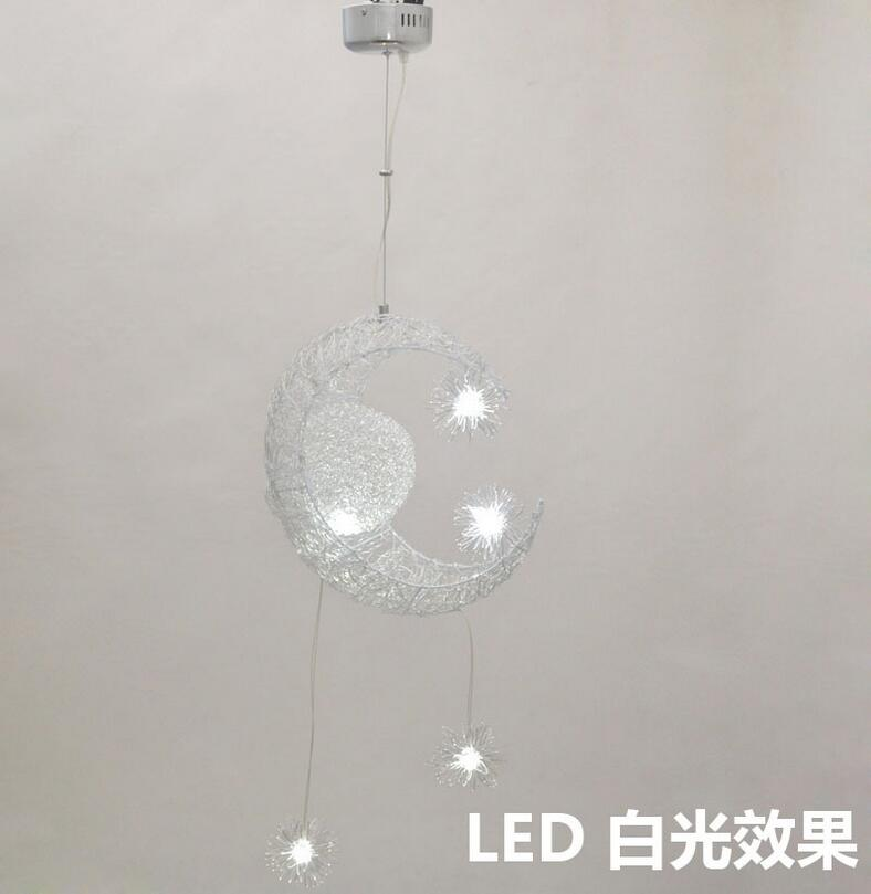 Modern minimalist children LED pendant lamp study balcony balcony chandelier fashion star moon chandelier lighting