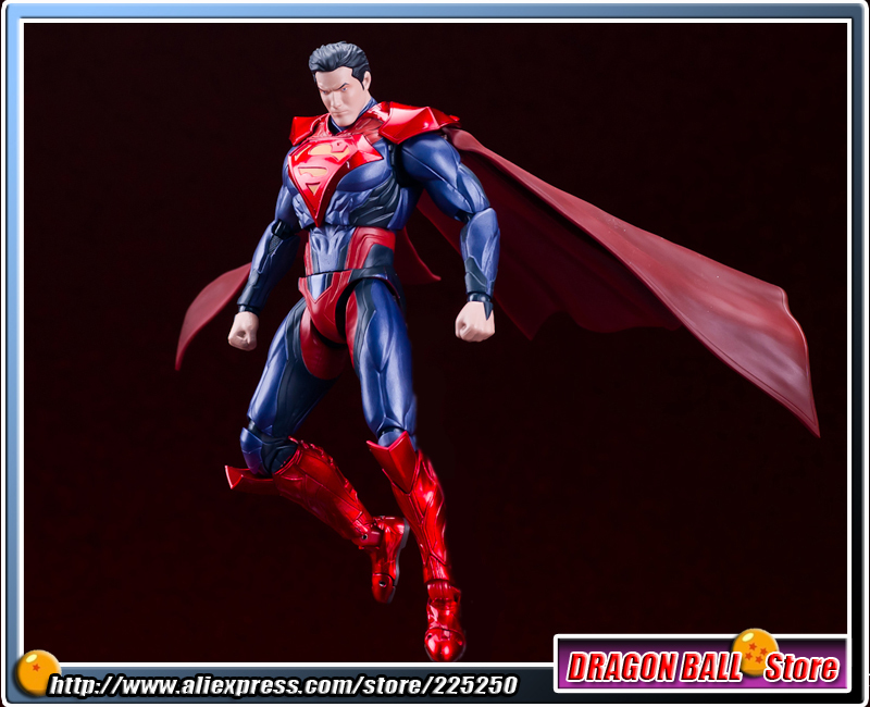 DC Comics Original BANDAI Tamashii Nations S.H.Figuarts / SHF Exclusive Action Figure - SUPERMAN INJUSTICE Ver. original bandai tamashii nations robot spirits exclusive action figure rick dom char s custom model ver a n i m e gundam