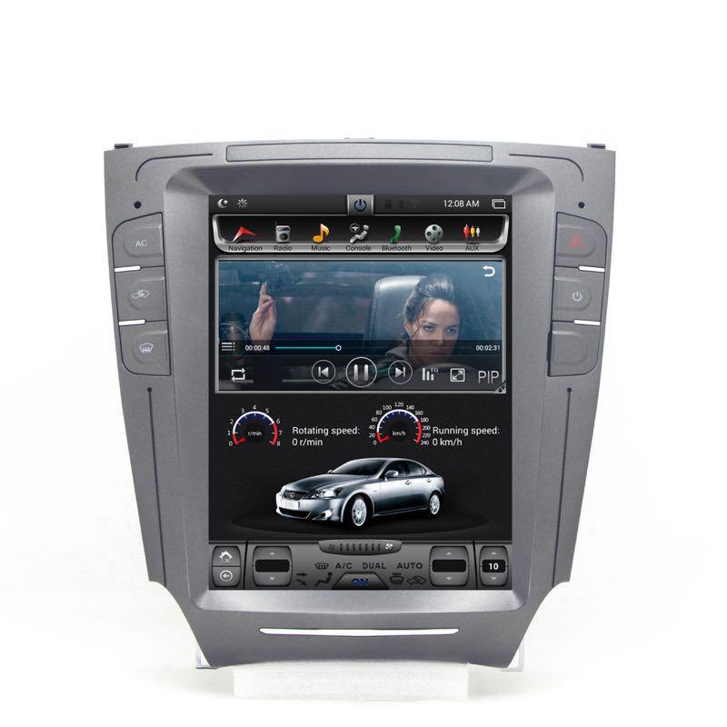Reprodutor multimídia carro android 7.0 2 + 32 Chogath G vertical da tela de navegação gps do carro de 10.4 polegada para IS250 2006 -2012