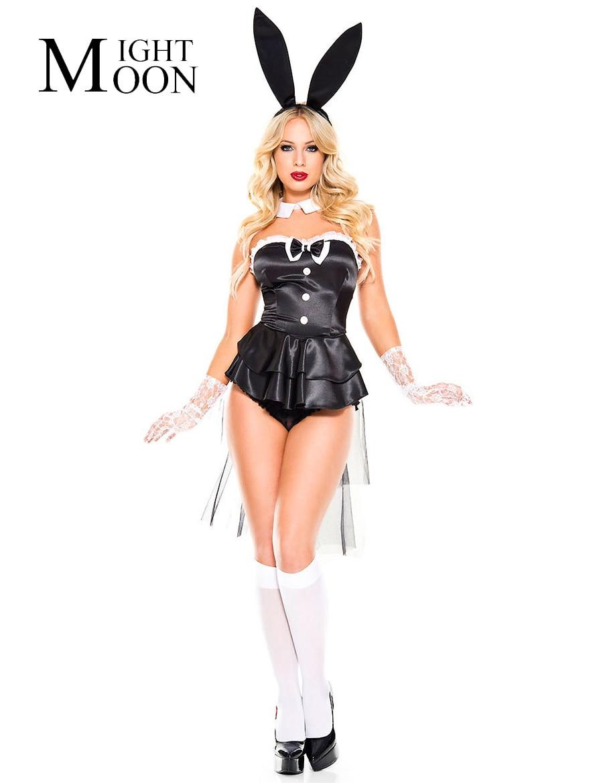Эротичный костюм с ушками зайчика купить фото 245-526