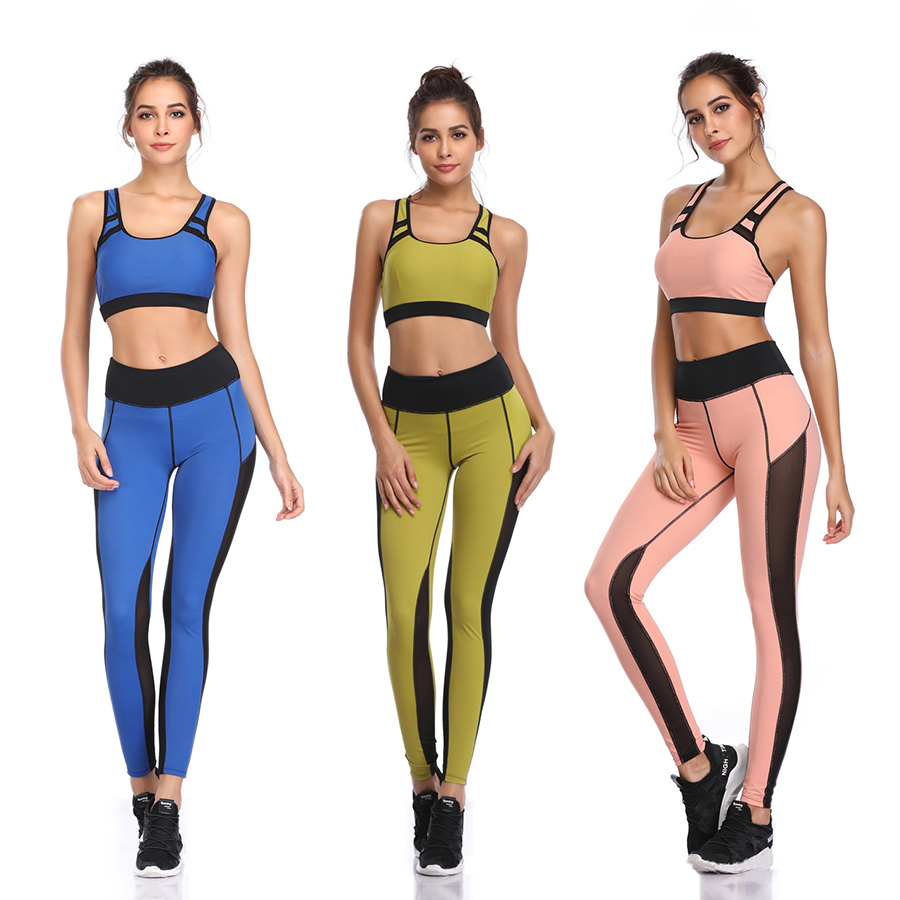 G SHOW Women 39 s Training Pants Sportswear Fitness Clothing Yoga Suit Sport Set For Female Gym Workout Two Piece Crop Jumpsuit top in Yoga Sets from Sports amp Entertainment
