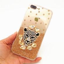 ФОТО for huawei p8 p9 p10 p20 lite plus luxury glitter crystal bling diamond rhinestone leopard head soft tpu phone case back cover
