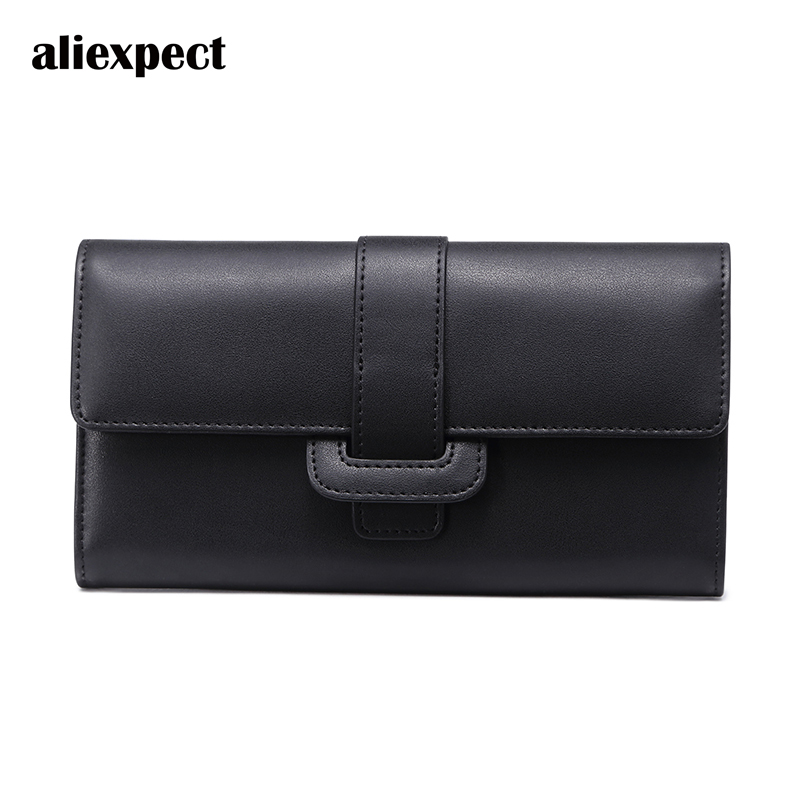 Wallet 2018 New Female Korean Version of The Personality of The Long Section of The Atmospheric Wallet Leather Can Be Put Phone qiaobao 2018 new korean version of the first layer of women s leather packet messenger bag female shoulder diagonal cross bag