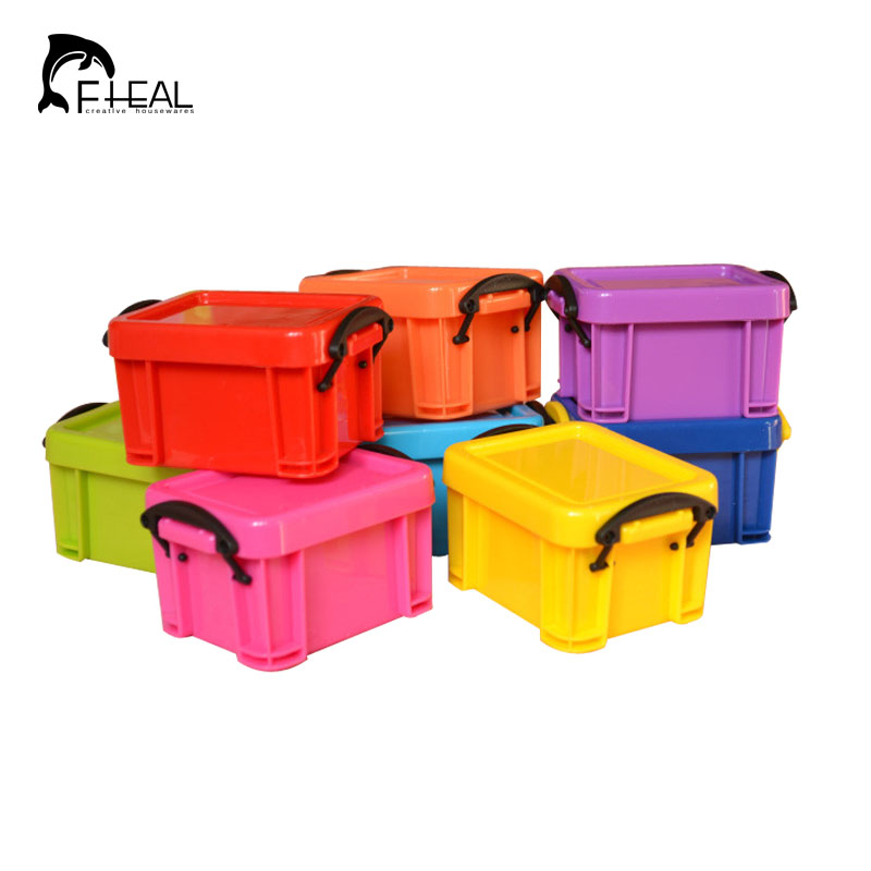 Fheal Mini Double Buckles Design Storage Box Candy Color