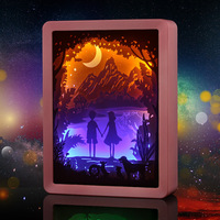 2019 Creative 3D Paper Carving Lamp Romantic USB Novelty Lighting Laser Hollowing Moon Night Lights Handcrafted Gift Home Decro