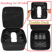 Double Deck Storage Bag Drone Aircraft Accessories Handbag Waterproof PU Bag for DJI SPARK
