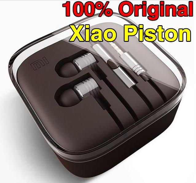 100% original xiaomi pistón ii 2 mi auricular auriculares con mando a distancia y el mic para el teléfono xiaomi mi4 mi3 hongmi note caja al por menor