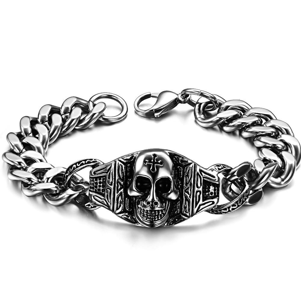 Chain & Link Charm Bracelets Men's Chain Link Bracelet Skull Chain Link  Bracelet Lady Bracelets For