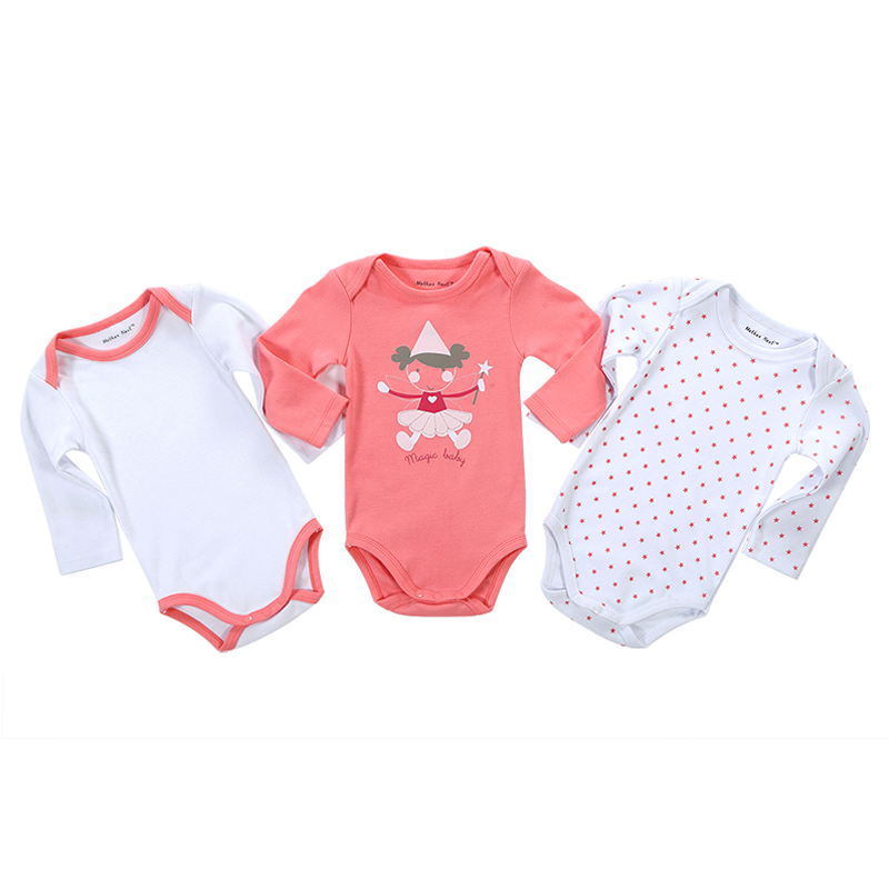 3 Pcs/lot Cartoon Style Baby Girl Boy Winter Clothes New Born Body Baby Ropa Bebe Next Baby Romper