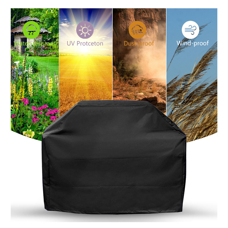 Outdoor Waterproof BBQ Cover Weber Heavy Duty Grill Cover Protective Round Rectangle Black Barbecue Barbeque Grill BBQ Accessory