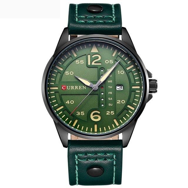 CURREN 8224 Luxury Brand Relogio Masculino Date Leather Casual Watch Men Sports