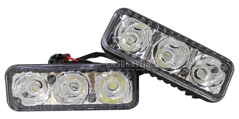 CNSUNNYLIGHT Waterproof Car High Power Aluminum LED Daytime Running Lights with Lens DC12v Xenon White 1set DRL (7)