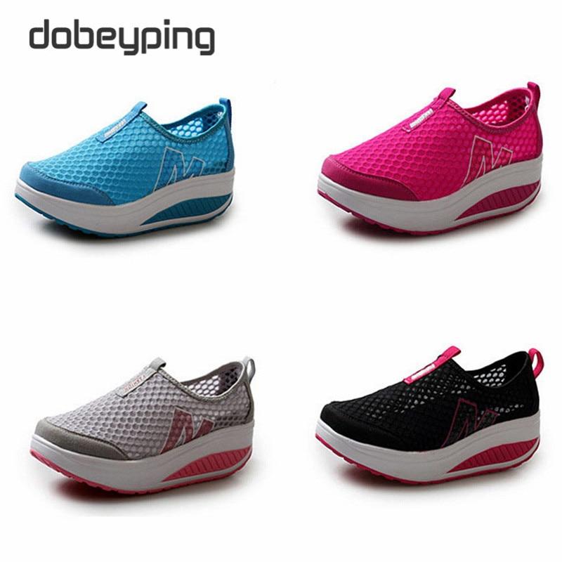Neue Sommer Schuhe Frauen Atmungsaktive Air Mesh Frau Müßiggänger - Damenschuhe - Foto 6
