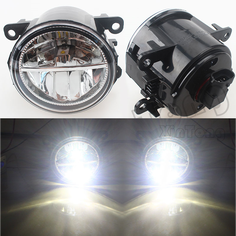 Car Styling 6000K White 10W CCC High Power LED Fog Lamps DRL Lights For Renault MEGANE 2/3/CC Fluence Koleos SANDERO STEPWAY microfiber leather steering wheel cover car styling for renault scenic fluence koleos talisman captur kadjar