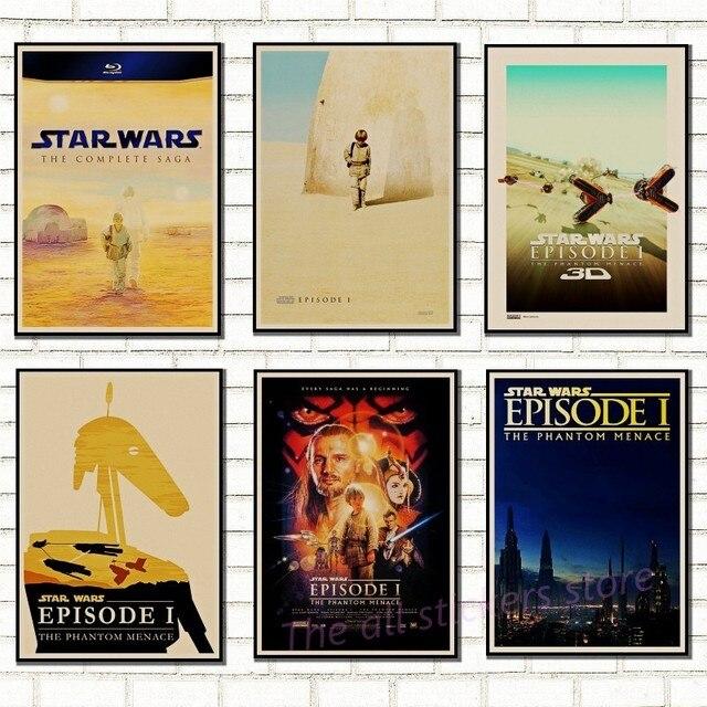 Classic Star Wars плакат Винтаж Искусство классические Семейные оформлены фильма Звездные войны скрытая угроза крафт плакат стикер 5004