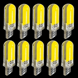 10 шт. T10 W5W 2825 WY5W 12 чипов COB LED силикагель водонепроницаемый клиновидный свет 501 силиконовый корпус автомобильный маркер лампа авто Поворотная...