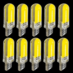 10PCS T10 W5W 2825 WY5W 12Chips COB LED Silica Gel Waterproof Wedge Light 501 Silicone Shell Car Marker Lamp Auto Turn Side Bulb