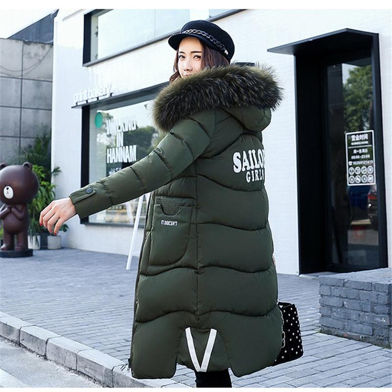 Women Cotton Coats 2017 New Fashion Winter Female Parka Coat Long Plus Size Thicken Warm Casual Loose Long Hooded Duck Jacket women thicken warm winter coat hood parka plus size 5xl on sale red cotton padded jacket female ukraine fashion outwear autumn
