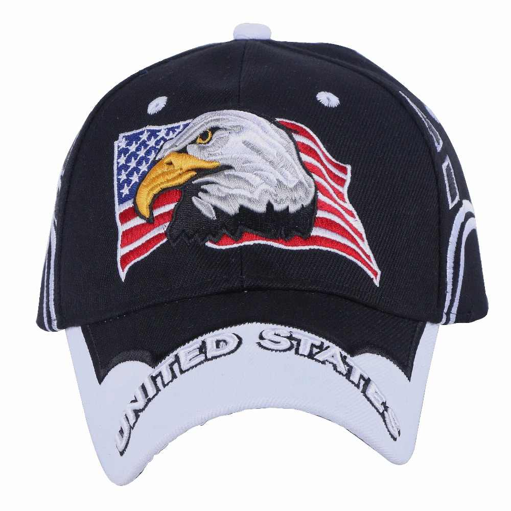 abf14658b3d ... women men novelty Eagle hip hop snapback cap hat embroidery usa flag  pattern outdoor sports baseball ...