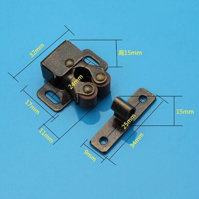 Bronze Color High Quality Furniture Door Lock Latch Pantry Cabinet Door  Stopper Cupboard Door Catch