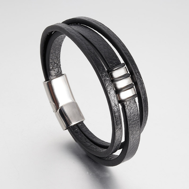 Punk Black Gold Stainless...