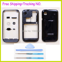 Original For Samsung Galaxy S Plus i9001 housing cover battery door + middle frame +front bezel +side button+ key+camera lens