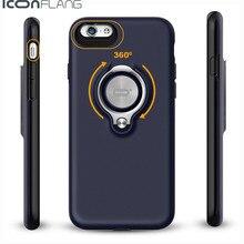 ICONFLANG Téléphone Shell Pour iPhone 6 6 plus le Cas Tournante En Métal anneau Cas Anti-goutte Pour iPhone 6 s 6 s PLUS Téléphone Retour couverture