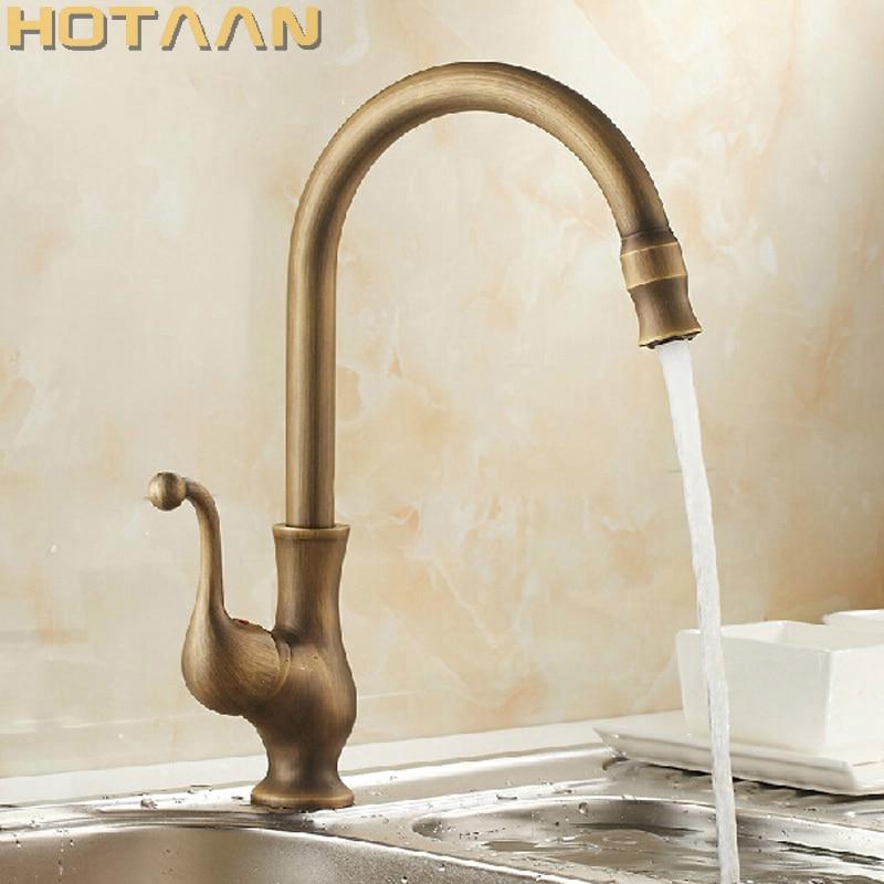 Free Shipping Kitchen Faucet Antique Brass Swivel Bathroom Basin Sink Mixer Tap Crane,torneira YT-6034