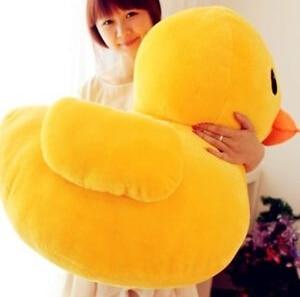 """30cm (12 """") óriás sárga kacsa töltött állat plüss lágy játék aranyos baba párna"""