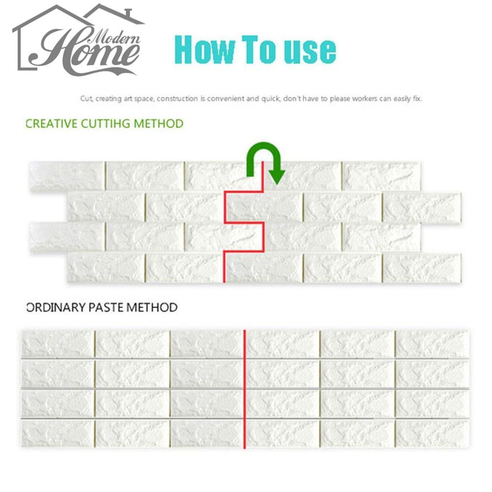 PE Foam 3D Wall Stickers Safty Home Decor Wallpaper DIY Wall Decor Brick Kids Bedroom Living Room Decorative Sticker 70x15/30cm
