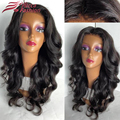 Thick Hair Middle Parting Loose Body Wave 180 Density Full Lace Wig Malaysian Virgin Hair Glueless Lace Front Wigs Human Hair