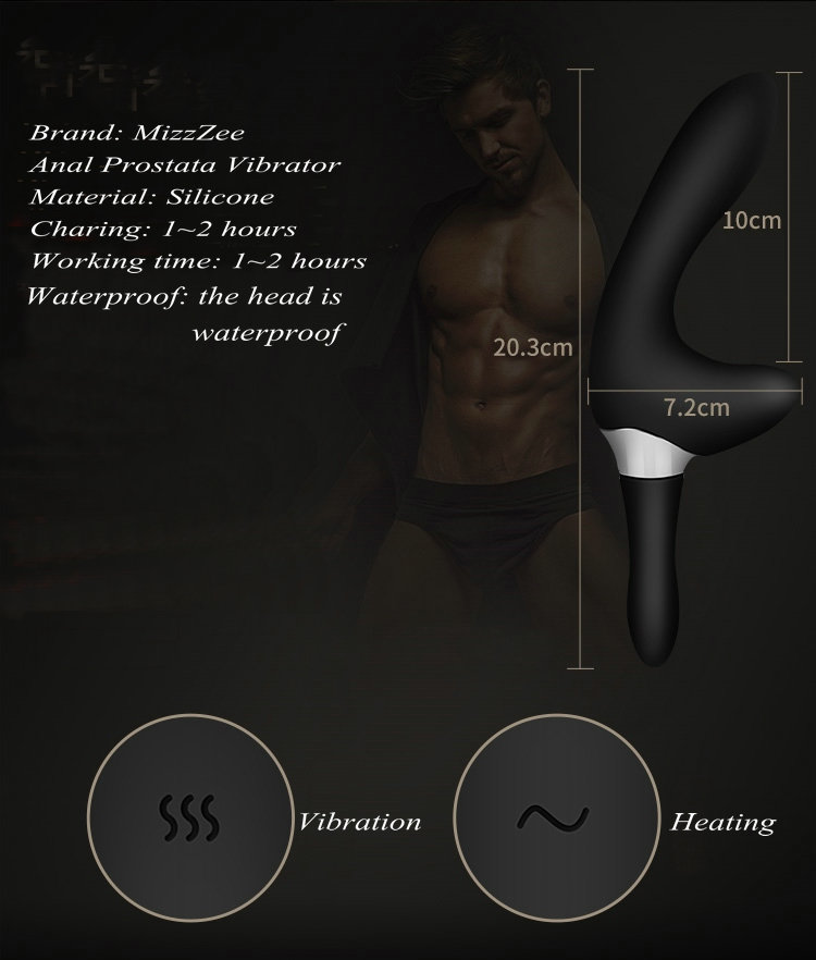 MizzZee Intelligent Heating Prostata Massage USB Rechargeable Prostate Massager for Men Anal Prostata Vibrator Sex Toys 6