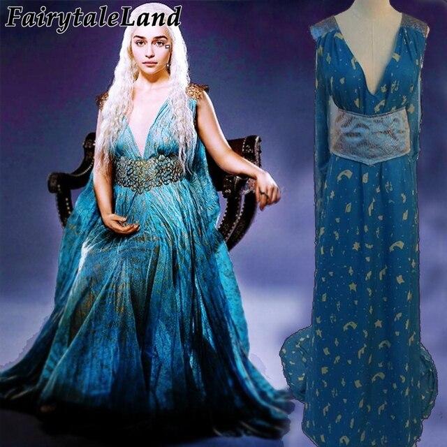 Game of Thrones Cronache del Ghiaccio e del Fuoco Daenerys Targaryen  cosplay costume costumi di Halloween f4263ddc31a