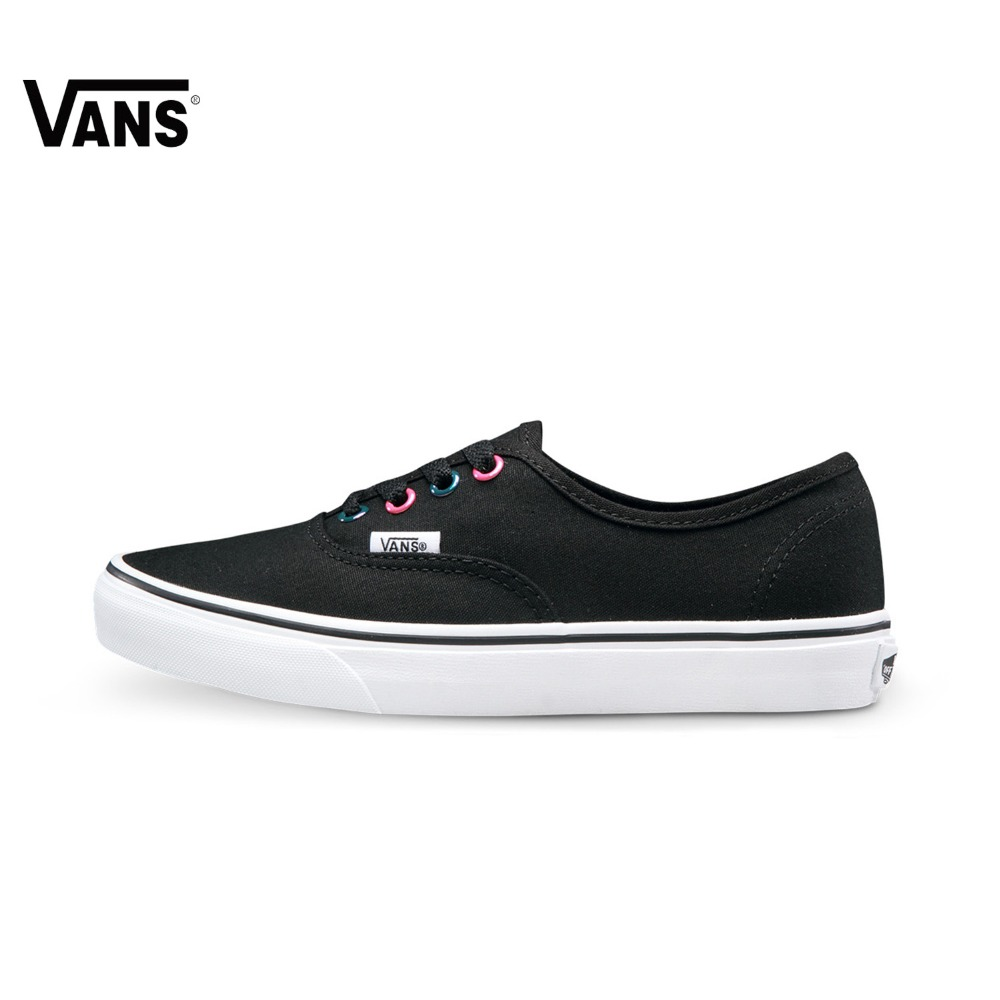 Original Vans New Arrival Black and Purple Low-Top Women's Skateboarding Shoes Sport Shoes Canvas Shoes Sneakers Outdoor Sports original vans black and blue gray and red color low top men s skateboarding shoes sport shoes sneakers