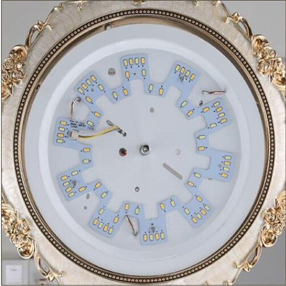 Modern Ceiling Light Led 110V-220V Round Glass Resin Ceiling Lamps Bedroom Kitchen Lighting Gilt Industrial Ceiling Lamp