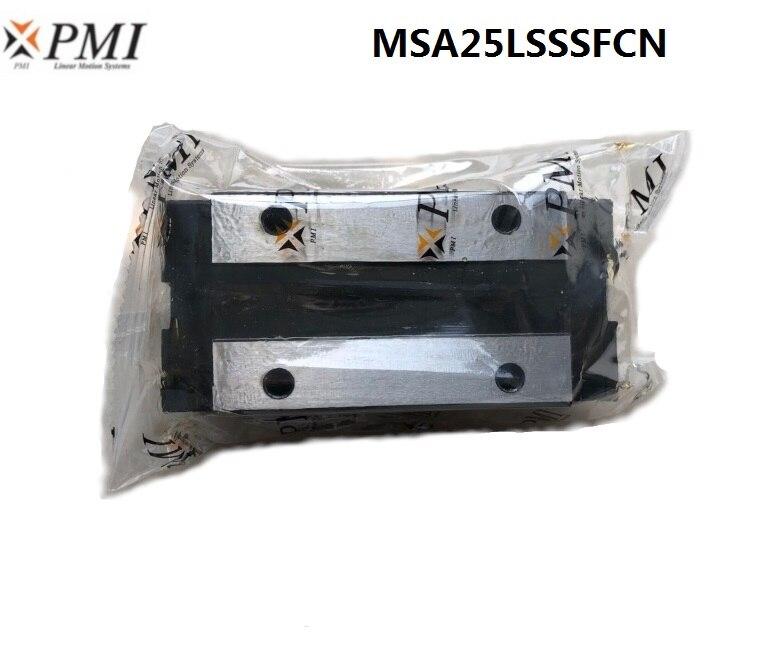 4 pcs D'origine Taiwan PMI MSA25LS-N MSA25LSSSFCN linéaire guidage glisser Chariot de bloc pour CO2 laser machine MSA25LS