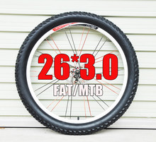 Pneu de bicicleta de borracha peso leve, 26 3.0 2.1 2.2 2.4 2.5 2.3 fat mtb 26 mountain bike