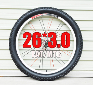 Rubber fat tire light weight 26 3.0 2.1 2.2 2.4 2.5 2.3 fat MTB 26 mountain bicycle tire