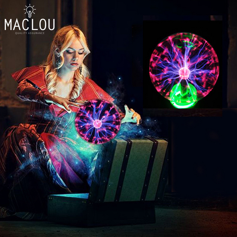 Novelty Lights 3 4 5 6Inch Glass Magic Sphere Plasma Ball Lamp Decoration Christmas For Kids Gift New Year Plasma Globe Lighting