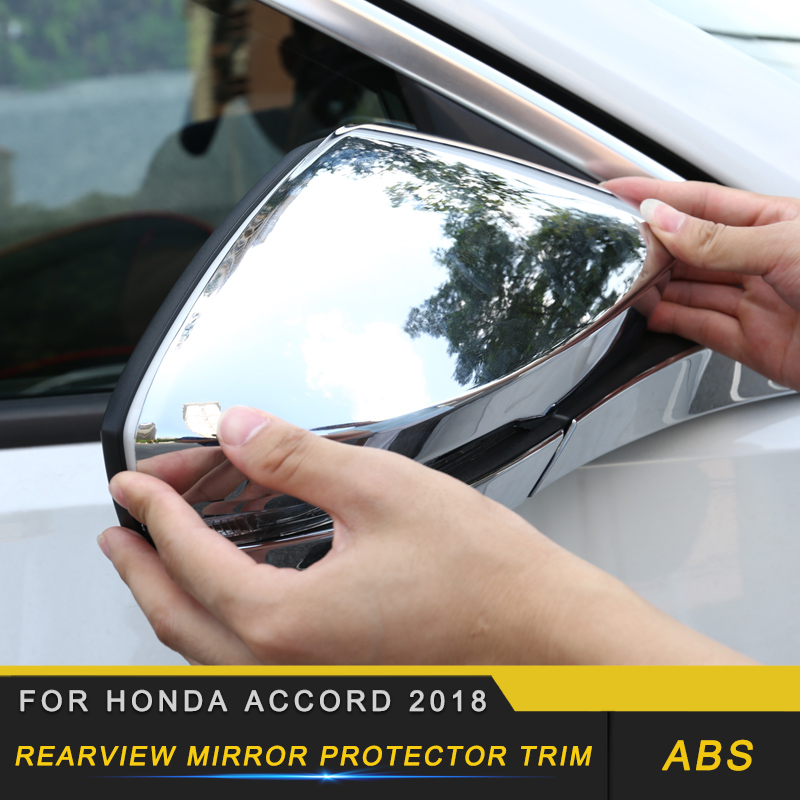 Rearview Mirror Protector Cover Trim Frame Exterior Accessories for Honda Accord 2018