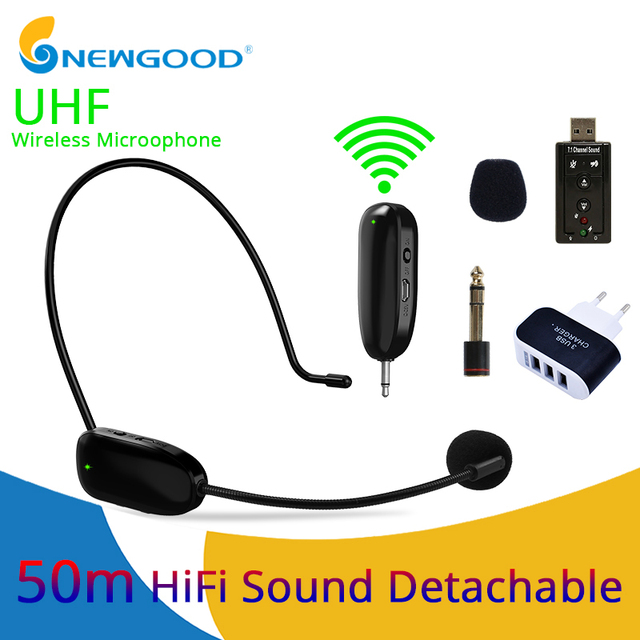 Microphone Professional UHF Wireless Microphone Headset System Lavalier Lapel Mic Receiver + Transmitter for Camcorder Recorder